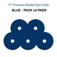 17 Inch Floor Pads - Blue Case x5 Wet Scrub/Heavy Duty Pads