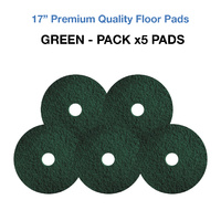 17 Inch Floor Pads - Green Case x5 Light Stripping Pads