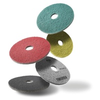 15 Inch Twister Diamond Cleaning Pads (x2) - Green - Daily Cleaning