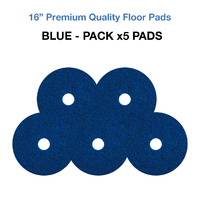 16 Inch Floor Pads - Blue Case x5 Wet Scrub/Heavy Duty Pads
