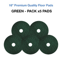 16 Inch Floor Pads - Green Case x5 Light Stripping Pads