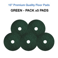 15 Inch Floor Pads - Green Case x5 Light Stripping Pads