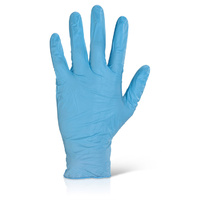 Nitrile Gloves Powder Free (Blue) - MEDIUM Box x100