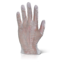 Vinyl Gloves Powder Free (Clear) - MEDIUM Box x100