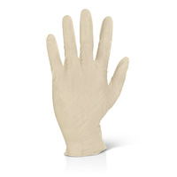 Latex Gloves Powder Free (Natural) - LARGE Box x100