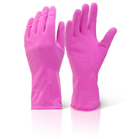 Household Rubber Gloves Large - Pink