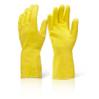 Heavy Duty Household Rubber Gloves Medium - Yellow