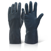 Heavy Duty Household Rubber Gloves Large - BLACK