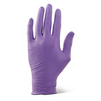 Nitrile Heavy Duty Gloves Powder Free (Purple) - SMALL Box x100