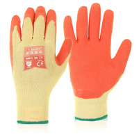 Click Multi Purpose Orange Latex Grip Gloves -MEDIUM