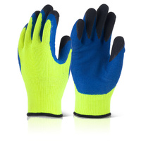 B-Flex Heavyweight Fleece Lined Thermo Gloves Yellow & Blue EN388