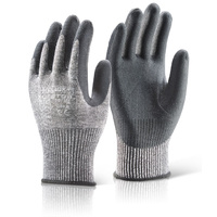 Click Kutstop Nitrile Coated Micro Foam Palm Cut Resistant Level 5 Gloves EN388