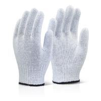 MIXED FIBRE GLOVES WHITE