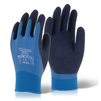 Wonder Grip Fully Coated Latex Water Resistant Dry/Wet Grip Glove Blue EN388