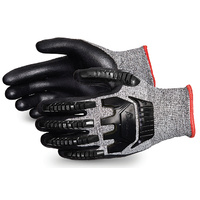 TenActiv Anti Impact Cut Resistant Composite Knit Glove with Black Foam Nitrile Palms EN388 4544