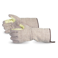 "Cool Grip 15"" Premium Cotton-Fleece Lined Bakers/Oven Gloves"