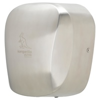Kangarillo Ultra Hand Dryer - Vandal Proof Auto Variable Heater Ultra Fast 900W / 79dB / 8-12 Seconds - BRUSHED STAINLESS STEEL