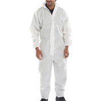 Click Protective Coveralls White CE Marked Type 5 & 6 EN13034 & EN13982