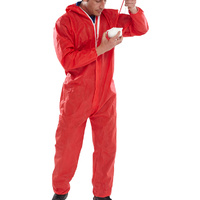 Click Protective Coveralls Red CE Marked Type 5 & 6 EN13034 & EN13982