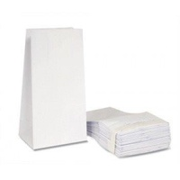 White Coated Vomit Bags - 22.5cm x 12cm x 6cm (50)