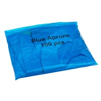 Heavy Duty Disposable Polythene Blue Aprons (x100)