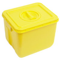 30 Litre Yellow Hazardous Waste Sealable Bin Unit