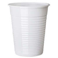 Plastic Drinking Cups WHITE 200ml (7oz) Case x2000