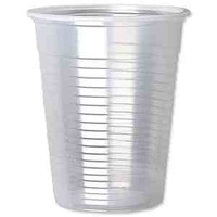 Plastic Drinking Cups CLEAR 200ml (7oz) Case x2000