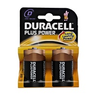 Duracell Plus Battery D Pk2