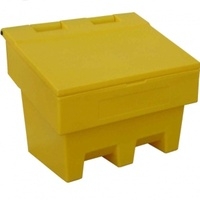 External Heavy Duty Yellow Grit Salt Bin 100 Litres