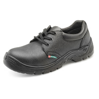 Dual Density Steel Toe Cap Shoes with Midsole Protection Black