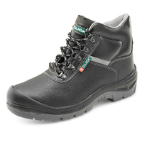 Premium Dual Density Steel Toe Cap Site Boots with Midsole Protection Black/Grey