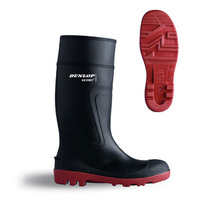 Dunlop Acifort Safety Wellington Boots Steel Toe Cap with Midsole ProtectionBlack & Red EN20345