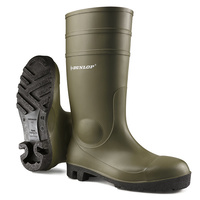 Dunlop Protomaster Safety Wellington Boots Steel Toe Cap with Midsole Protection Green & Black EN20345