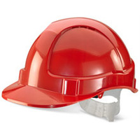 ECONOMY VENTED S/HELMET RED