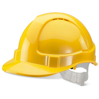 ECONOMY VENTED S/HELMET YELLOW