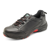 Dual Density Steel Toe Cap Trainer with Steel Midsole Protection Black/Red