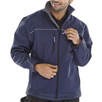 Soft Shell Water & Wind Proof Breathable Fabric Navy