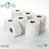 JWH203 - Mini Jumbo Toilet Rolls - 2ply 200m (80mm Core) (x12 Rolls)
