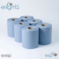 CBL400SE - Centre Feed Embossed Rolls - 2ply Blue 125m (x6 Rolls)
