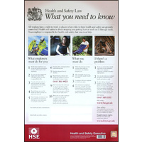 HEALTH & SAFETY LAW POSTER PVC