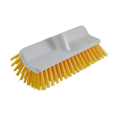 High / Low Deck Scrubbing Brush - Yellow