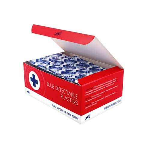 Blue Detectable Plasters - Assorted (100)