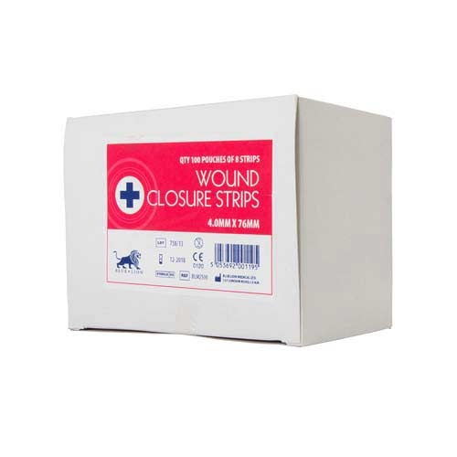 Wound Closure Strips - 4mm x 76mm (50)
