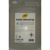 PHS - Alcohol Hand Sanitiser Gel 70%  (5 Litre)