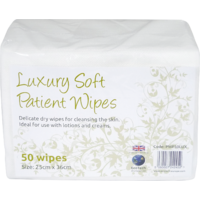 Luxury Soft Dry Medical Grade Patient Cleansing Wipes (Case 40 x 50 Wipes) (x2000 Wipes)
