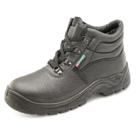 Dual Density Steel Toe Cap Boots with Midsole Protection Black